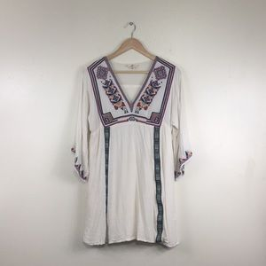 Entro Boho Chic Embroidered Flowy Dress